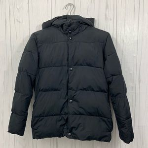 GAP KIDS XL BLACK PUFFER COAT